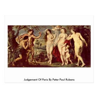 Urteil von Paris durch Peter Paul Rubens Postkarte