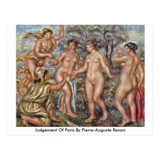 Urteil von Paris durch Pierre-Auguste Renoir Postkarte