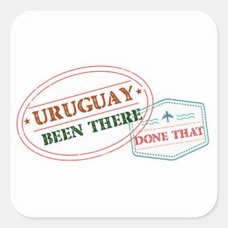 Uruguay dort getan dem quadratischer aufkleber