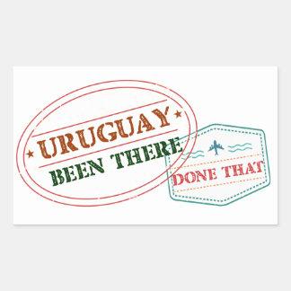 Uruguay dort getan dem rechteckiger aufkleber