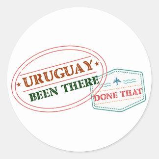 Uruguay dort getan dem runder aufkleber