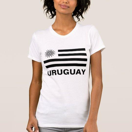 Uruguay-Flagge Black&White kundengerechter T-Shirt