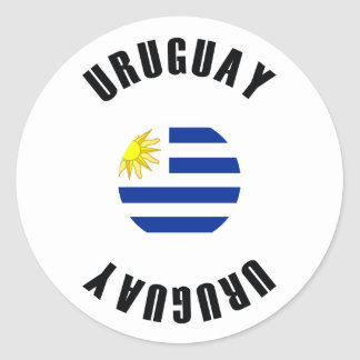 Uruguay-Flagge einfach Runder Aufkleber