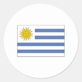 Uruguay-FLAGGE International Runder Aufkleber