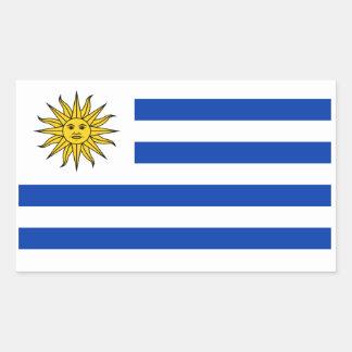Uruguay-Flagge Rechteckiger Aufkleber