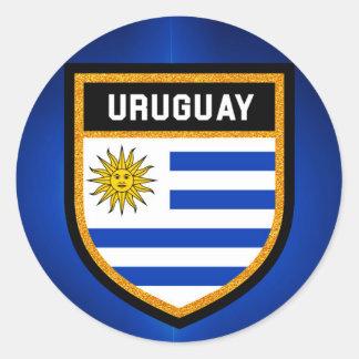 Uruguay-Flagge Runder Aufkleber