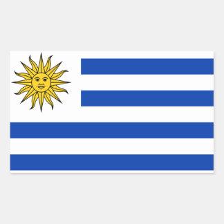 Uruguay* Flaggen-Aufkleber Rechteckiger Aufkleber