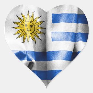 Uruguay-Flaggen-Herz-geformter Aufkleber