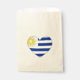 Uruguay-Flaggen-Herz Geschenktütchen
