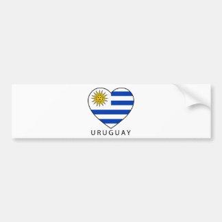 Uruguay Heart black URUGUAY Autoaufkleber