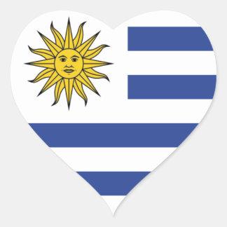 Uruguay Herz-Aufkleber