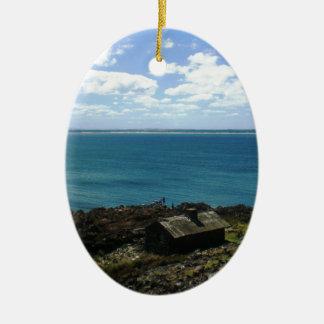 Uruguay-Kabine durch das Meer Ovales Keramik Ornament