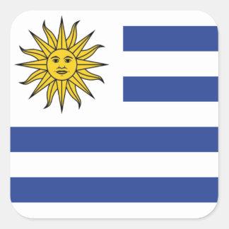 Uruguay Quadratischer Aufkleber