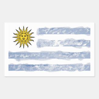 Uruguay Rechteckiger Aufkleber