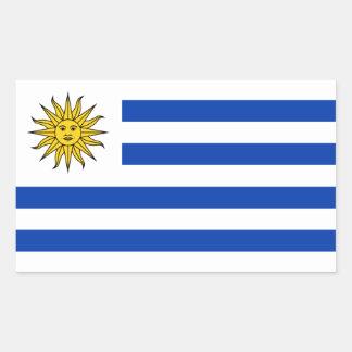 Uruguay/uruguayische Flagge Rechteckiger Aufkleber
