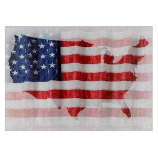 US/American Flaggen-Schneidebrett Schneidebrett
