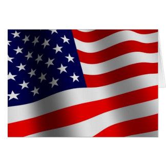 US-Bürger-Karte Grußkarte