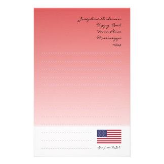 US Flagge Briefpapier