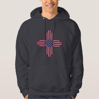 US-Flagge - das Symbol Zias Sun - Amerikaner Sun. Hoodie