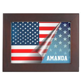 US Flagge Erinnerungsboxen