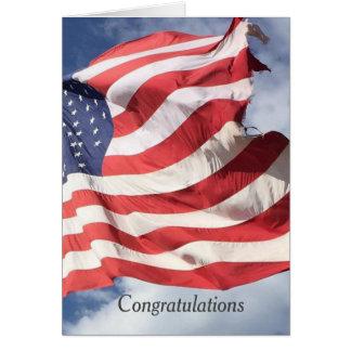 US Flagge-Flaggen-Glückwunsch-Grüße C Karte