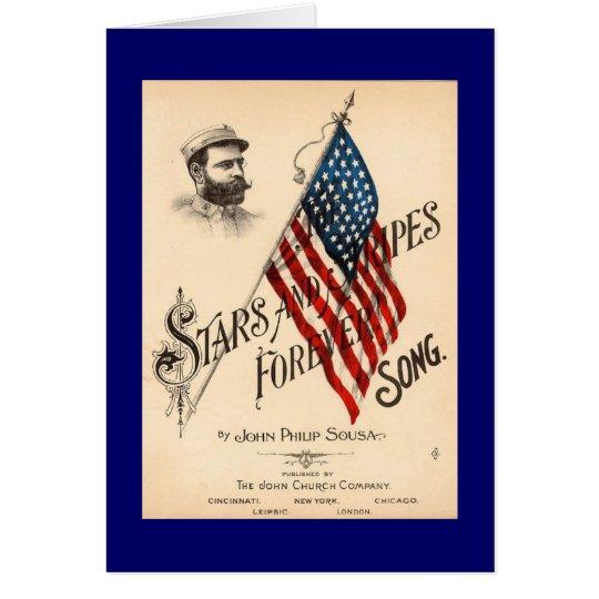 US Flagge für immer Grußkarte