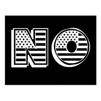 US Flagge kennzeichnet KEIN widersteht Protest Postkarte