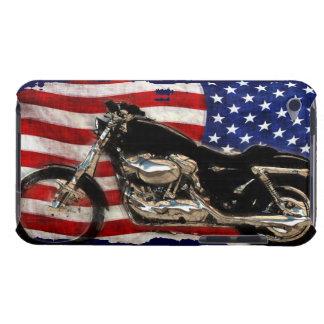 US-Flagge, Motorrad, Motorrad, Schwein, iPod Touch Hülle