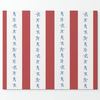 US Flagge-patriotisches Verpackungs-Papier Geschenkpapier