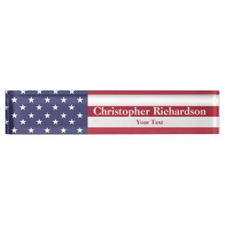 US Flagge Schreibtischplakette