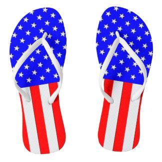 US Flagge USA dreht Reinfälle um Flip Flops