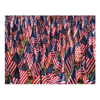 US-Flaggen Postkarte