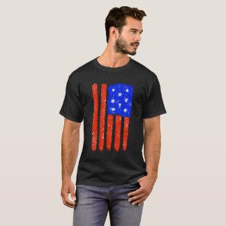 US-Flaggen-rohes Korn T-Shirt