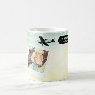 US-Luftpost-Gans TAN gefärbt Kaffeetasse
