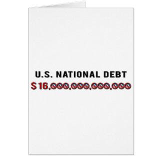 US-Staatsangehörig-Schulden Karte