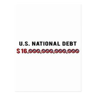 US-Staatsangehörig-Schulden Postkarte