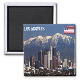US - USA-Los- Angelespanorama Quadratischer Magnet