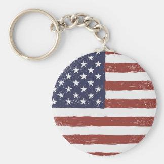 """USA 2,25"""" grundlegender Knopf Keychain Schlüsselanhänger"""