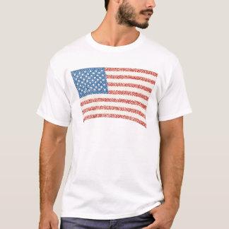 USA-amerikanische Flagge in den T-Shirt