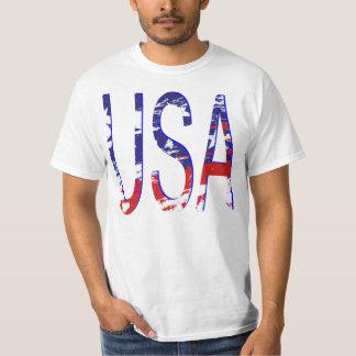 USA-amerikanische Flagge Zwei-Ton T-Shirt