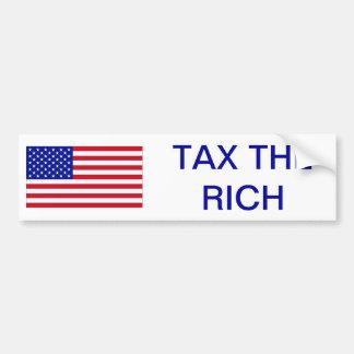 USA: Besteuern Sie die Reichen Autoaufkleber
