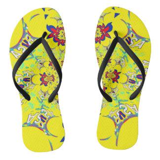 USA-bunter heller Blumensommer-Musterentwurf Flip Flops