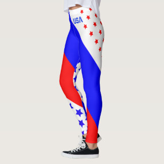 USA DES USA-ROTES WEISSES U. BLAUES LEGGINGS