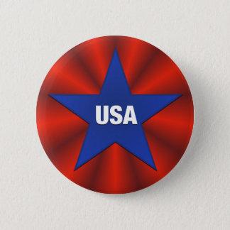 USA, die Band-Stern-Knopf mit dem Kopfe stoßen Runder Button 5,1 Cm