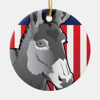 USA-Esel, Demokrat-Stolz Rundes Keramik Ornament
