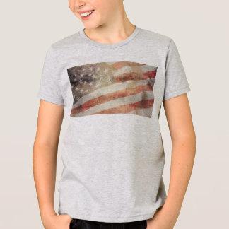 USA-Flagge: Amerikanischer T - Shirt der Kinder