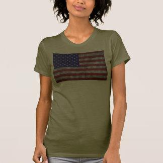 USA-Flagge auf Stahlplatte Tshirts