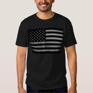 USA-Flagge BW Tshirt