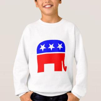 USA-Flagge Elefant der Wahlabstimmung Sweatshirt