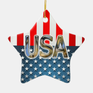 USA-Flagge Keramik Stern-Ornament